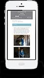 Phone responsive web design